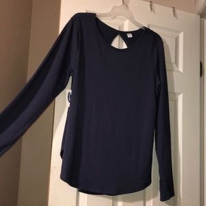 Old Navy Relaxed Cutout-Back French Terry Top NWT